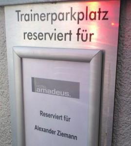 Trainerparkplatz